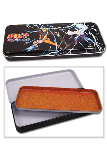 Naruto Vs. Sasuke Naruto Shippuden Tin Pencil Case
